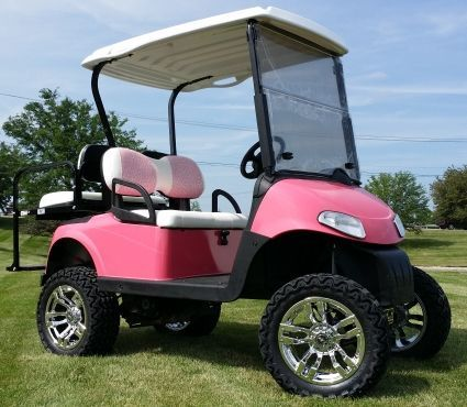 cool Pink RXV EZ-GO Gas Golf Cart w/ 13hp Kawasaki Motor Flamingo and palm trees Check more at http://autoboard.pro/2017/2017/01/03/pink-rxv-ez-go-gas-golf-cart-w-13hp-kawasaki-motor-flamingo-and-palm-trees/