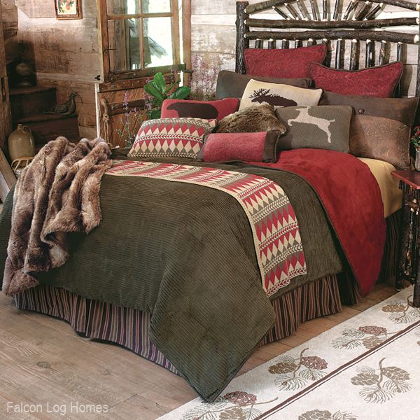 Wilderness Rustic Lodge Bedding Set~ Falcon Log Homes