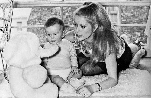 Catherine Deneuve and son Christian