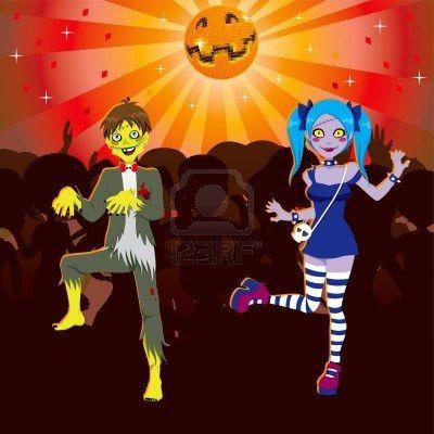 Jongen en Meisje dansen in Zombie Disco Hall