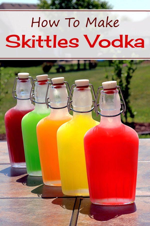 A tutorial for making Skittles Vodka. http://mixthatdrink.com/skittles-vodka-tutorial/