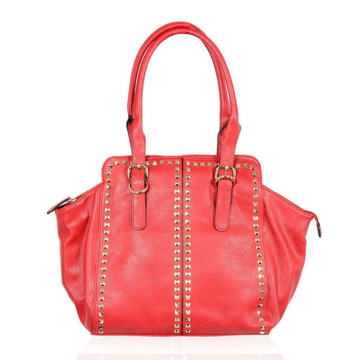 First Impression Studded Cherry Vegan Leather Tote Bag Brand New in Storage Bag #Alyssa #Tote