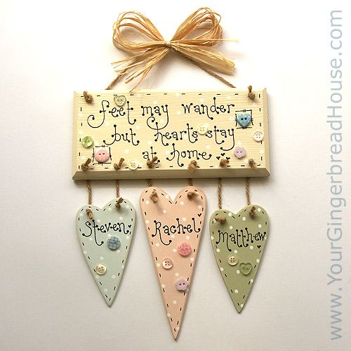 Your Gingerbread House - Personalised Signs - handmade wooden signs and canvases