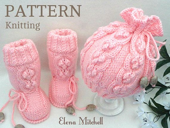 Knitting PATTERN Baby Set Knitting Patterns Baby Shoes Baby