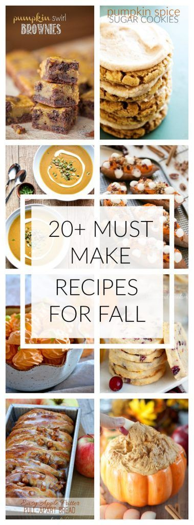 20+ Must Make Recipes for Fall