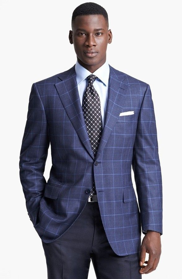 3c3b7fbee4a7a6 Canali Classic Fit Plaid Sportcoat. | Menswear in 2019 | Mens suits ...