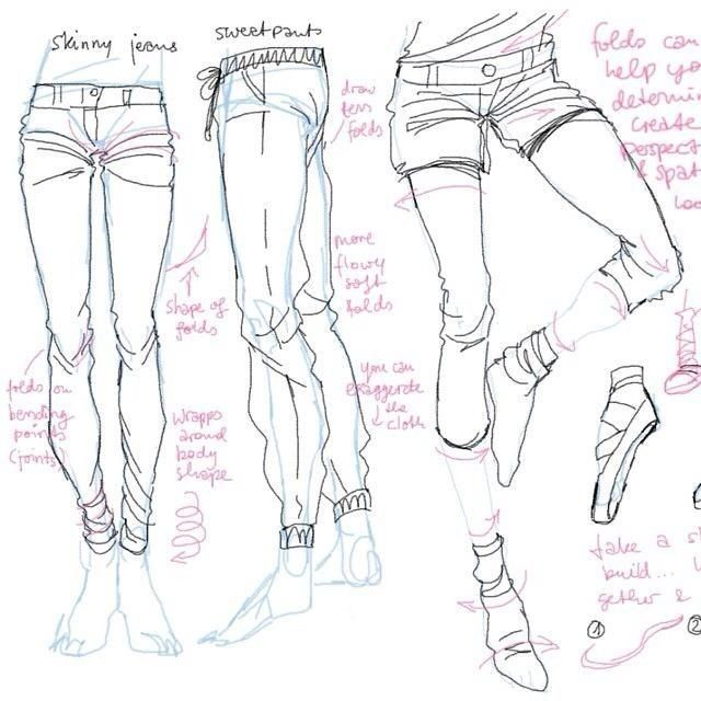 Skinny Jeans Vs Sweatpants Drawing The Legs In Clothing With