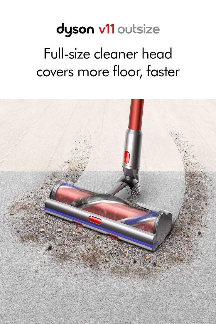 The new Dyson V11 Outsize. Twice the suction of any