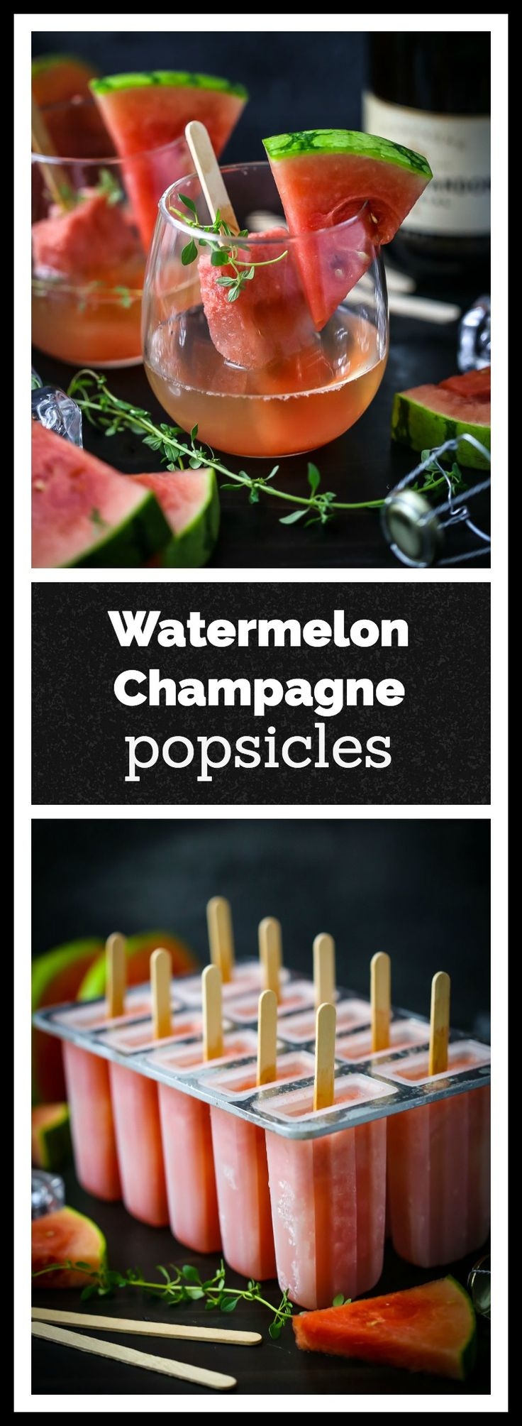 Stir a watermelon champagne popsicle into a chilled glass of bubbly to cool you down on a hot summer night.