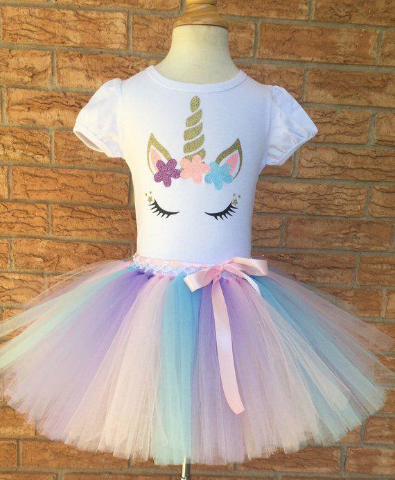 unicorn shirt, girl's birthday shirt, birthday outfit for girls, unicorn par…