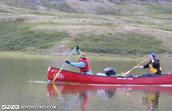 Arctic canoeing expedition on the Soper River on Baffin Island, Nunavut