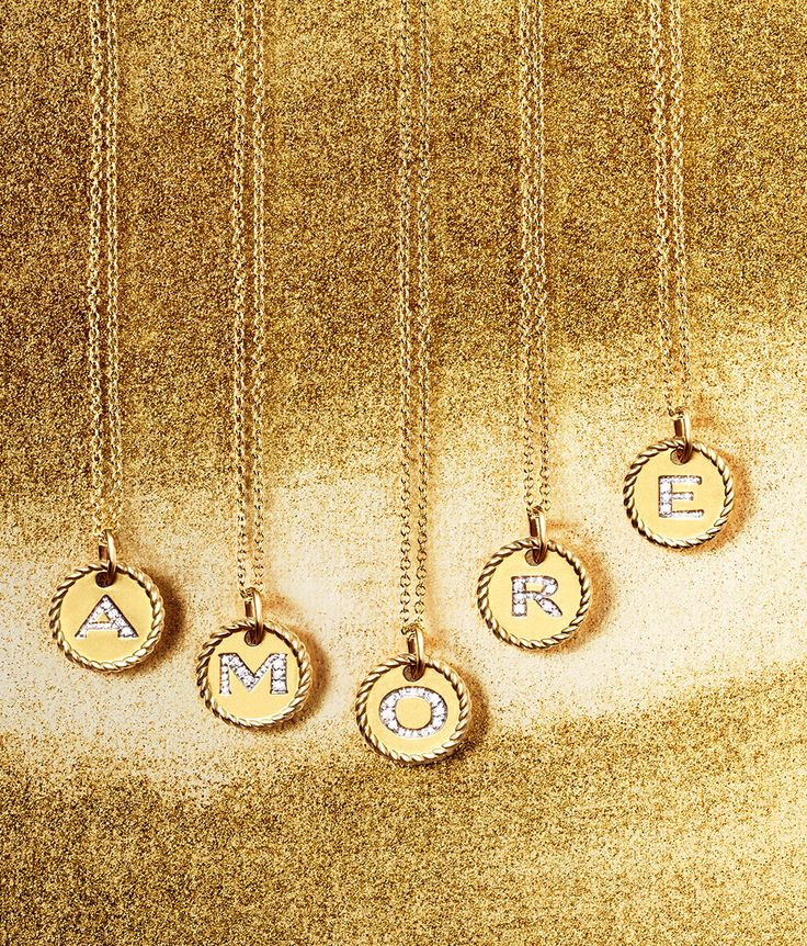 david yurman cable pendants with diamonds