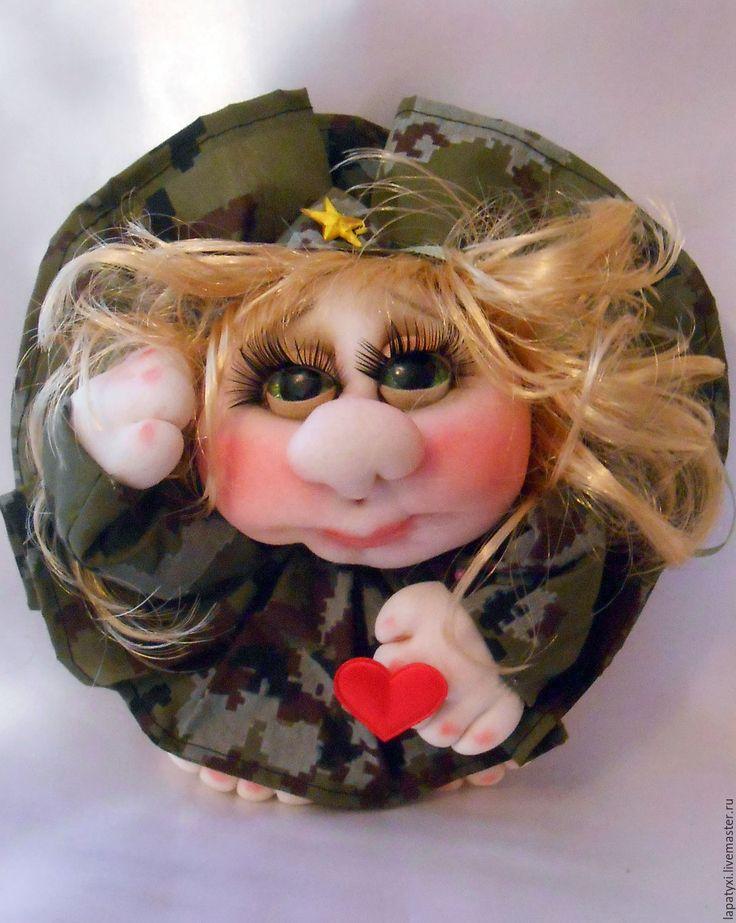 Купить Кукла попик - подарок ,военным - хаки, кукла в подарок, 23 февраля, попик