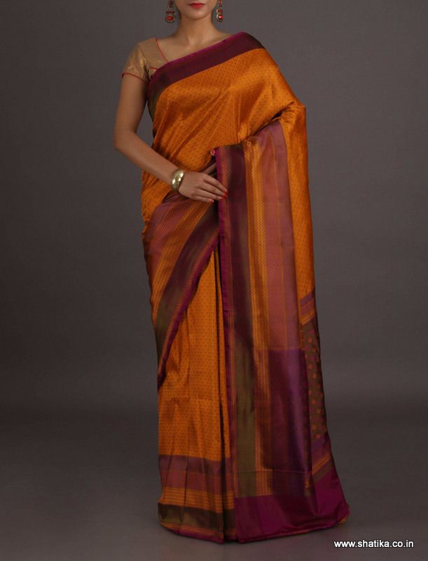 Kritika Self Design Weave Contrast Border Pallu #BanarasiTanchoiSilkSaree