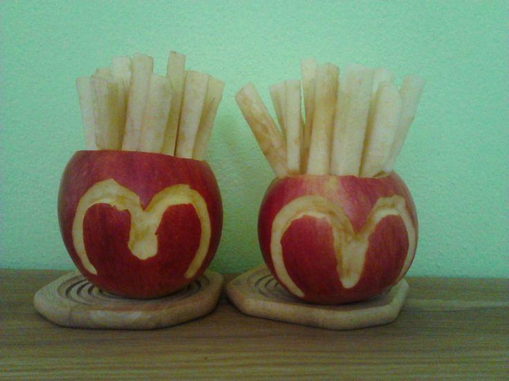 Hranolky z jablka