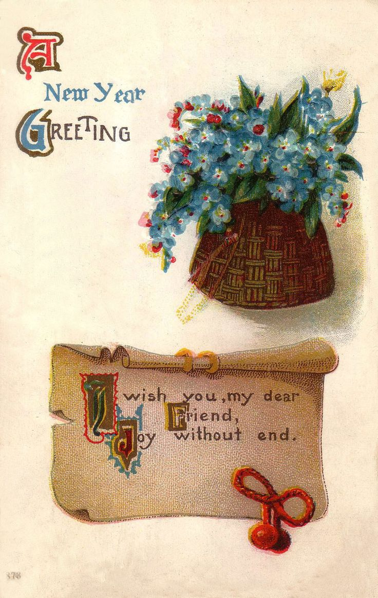 188 Best Vintage New Year Cardsideas Images On Pinterest Happy