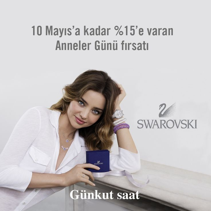 Anneler gününe özel, tüm Swarovski ürünlerimizde % 15'e varan indirim fırsatını kaçırmayın!  Ürünlerimizi incelemek için;  http://www.gunkutsaat.com/catinfo.asp?mrk=9&cid=43&typ=&brw=&src=&stock=&kactane=24