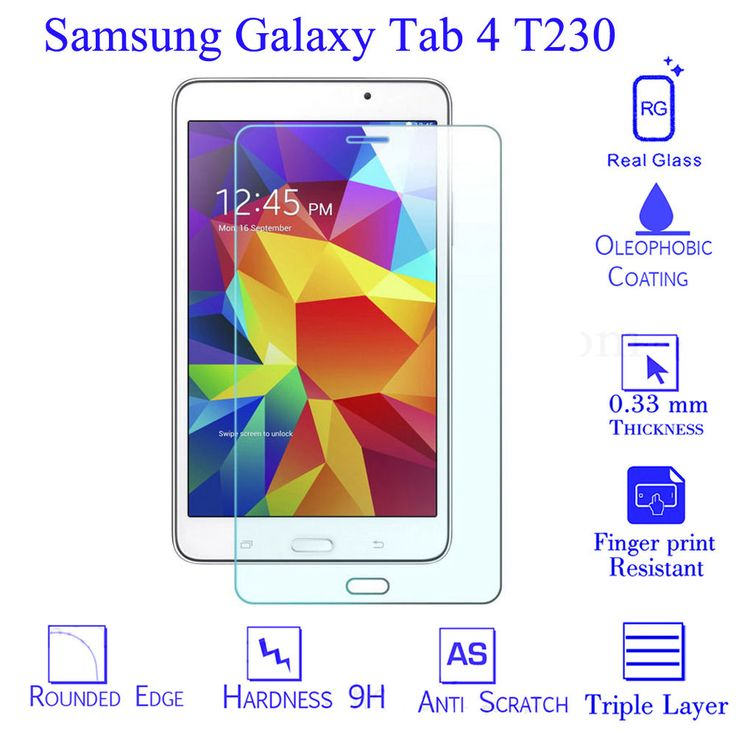 9H Tempered Glass Screen Protector For Samsung Galaxy Tab 4 7  inch T230 Tablet