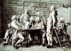 « Philosophe » devient, au XVIIIe siècle synonyme de « partisan des Lumières ». Diderot nomme Pensées philosophiques sa réplique aux Pensées de Pascal, et Sedaine, le Philosophe sans le savoir sa présentation dramatique de l'homme concrètement vertueux,