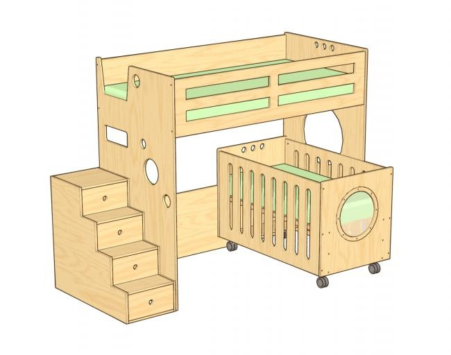 Dumbo Bunk Bed Over Crib More