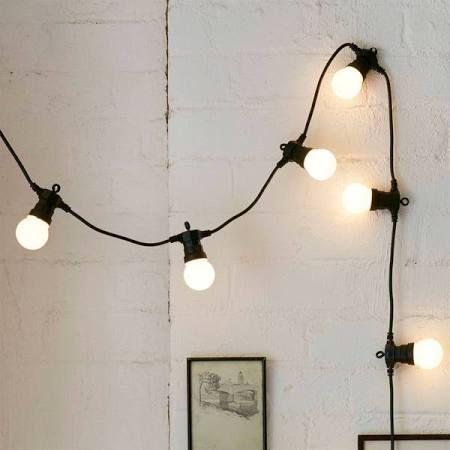 festoon lights - check length and wattage