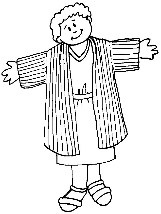 Joseph coat Coloring Pages Joseph 39 s Coat of Many Colors
