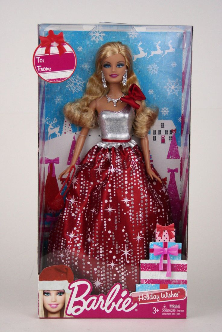 2010 Barbie Holiday Wishes Holiday Barbie Doll BBV50 New and SEALED | eBay