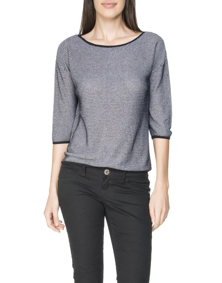 Two-Tone Cropped Pullover