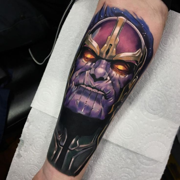 Thanos tattoo by Jordan Baker