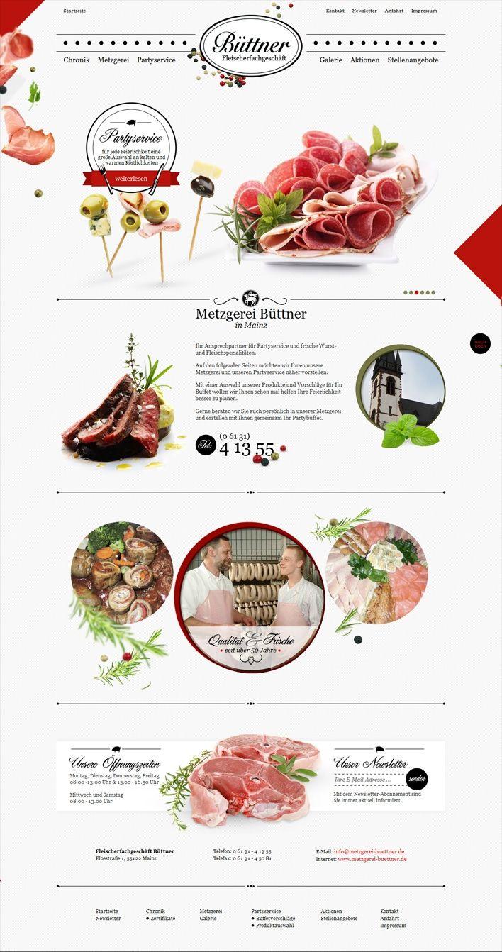 Büttner Fleischerfachgeschäft - super beautiful full length web design