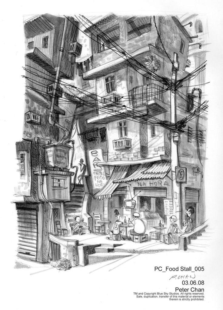 25+ melhores ideias sobre Favela Desenho no Pinterest ...