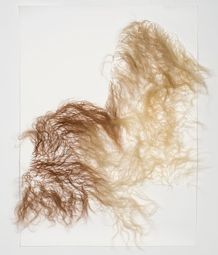 "Nandipha Mntambo, Quiet Acts of Affection XII,Cow hair on Fabriano paper, 45 5/16"" x 62 3/16"", 2012  © Jean-Baptiste Beranger"