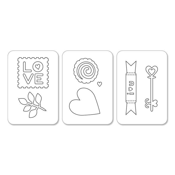 Sizzix.com - Sizzix Sizzlits Die Set 3PK - Hearts & More Set