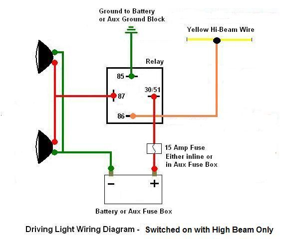 wiring diagram driving lights relay wiring image 4 pin relay wiring diagram driving lights jodebal com on wiring diagram driving lights relay