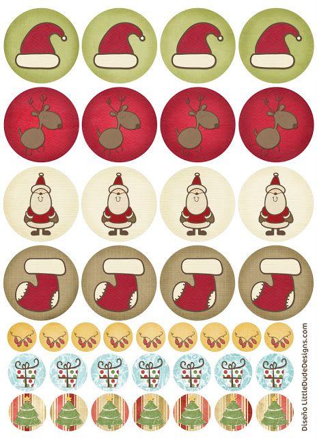Tarjetas, etiquetas y pegatinas de navidad imprimibles de BlogDesign.es | Amor Maternal