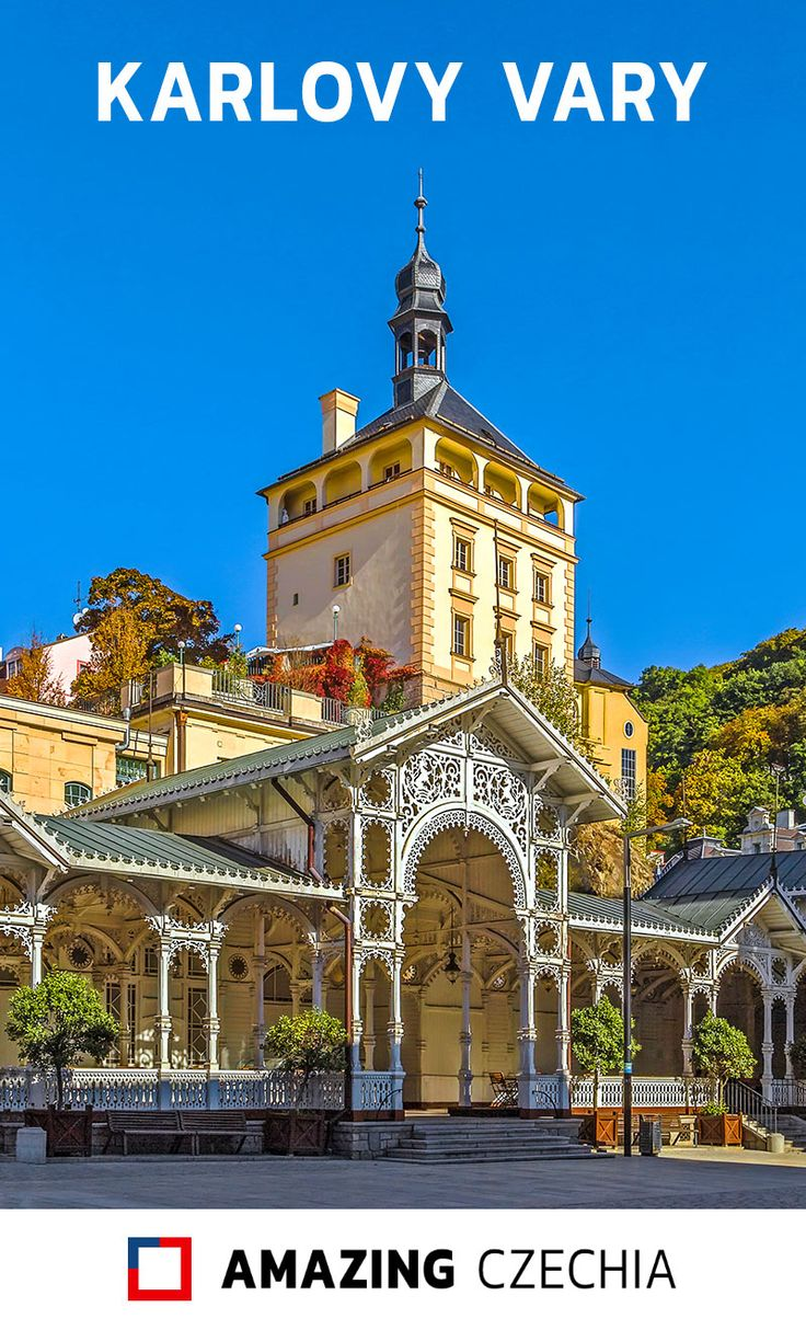 Karlovy Vary (a.k.a. Carlsbad) is a town in the west of Czechia. It is very a famous spa resort, visited by many celebrities from all over the world.