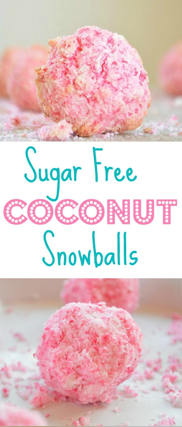 sugar free coconut snowballs