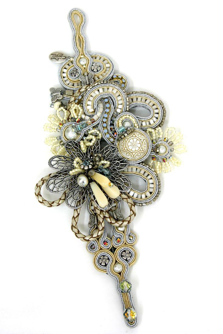 Dori Csengeri embroidered jewellry