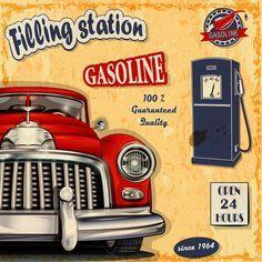 Retro auto service and repair poster vector 03