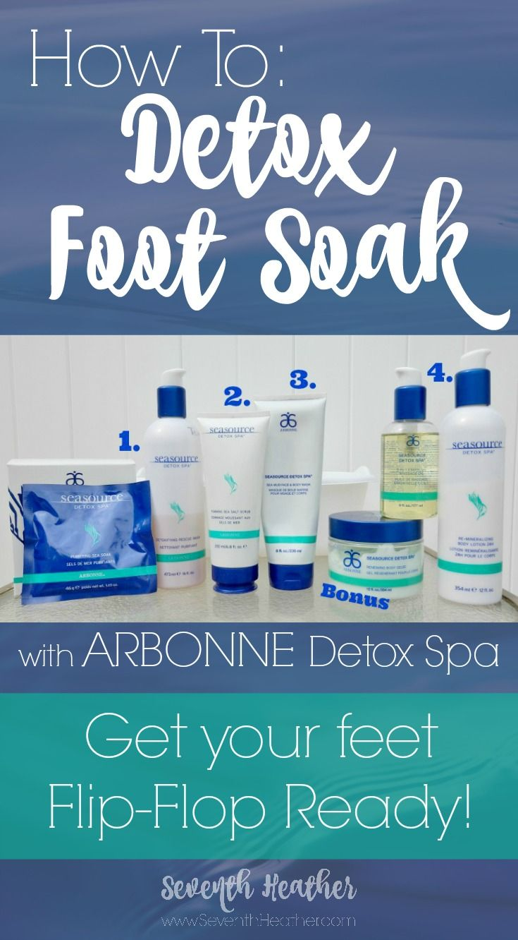 Get flip flop ready! How to do a Detox Foot Soak with Arbonne SeaSource Detox spa products.