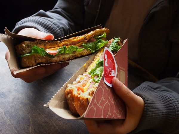 2 Go Sandwich Packaging by Megan Lin, via Behance
