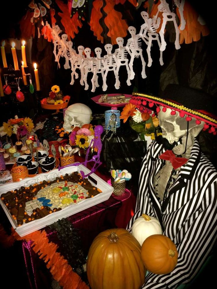 day of the dead halloween party ideas - Day Of The Dead Halloween Decorations