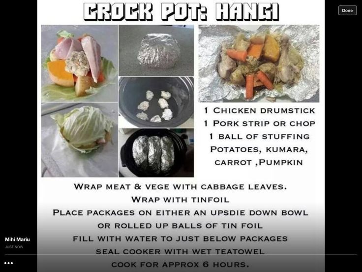Crock Pot Hangi