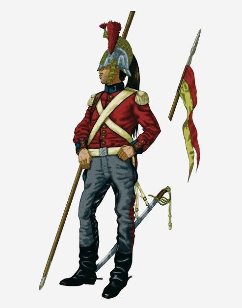 Lanceros de Pavia 7º 1852