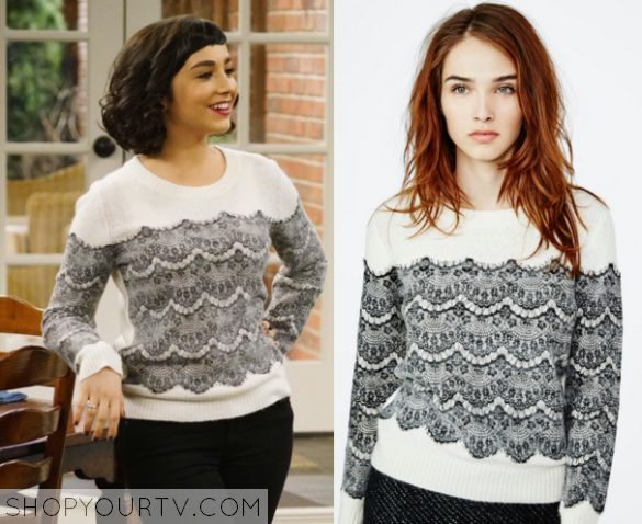 Last Man Standing: Season 5 Episode 10 Mandy's Lace Print Sweater