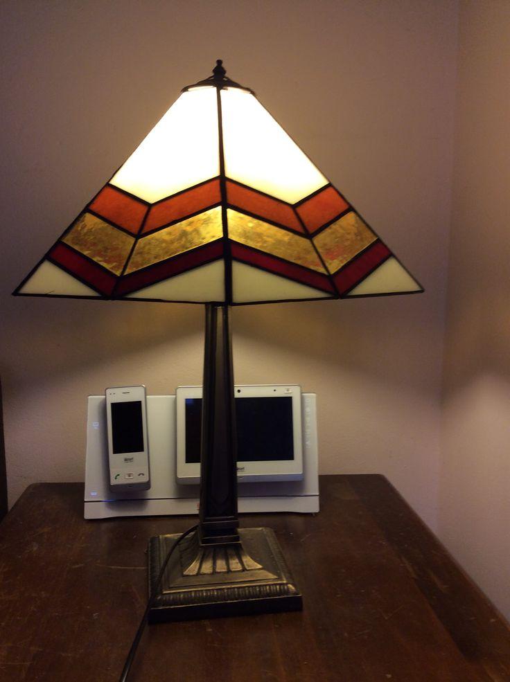 Foiled glass lamp Made by Gai Strakosch