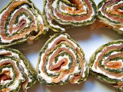 Wraps met zalm en spinazie