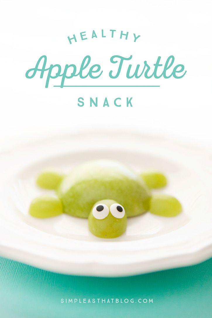 Making snack time fun doesn't have to be time-consuming or complicated. Incorporate an extra serving of fruit into your child's daily diet in less than a minute with this healthy apple turtle snack!