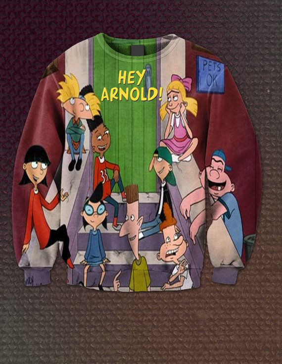 Hey Arnold All Over Crew Neck by ThatsDopeAf on Etsy, $45.00