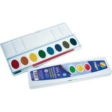 Prang watercolors are awesome. They're more expensive than a palette of Crayola, but the quality is far superior. Worth the investment for your little artist.